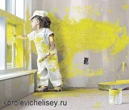 испачкавшая детская одежда