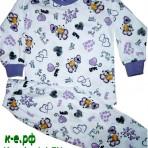 Пижама с веселыми бабочками (P-00010)